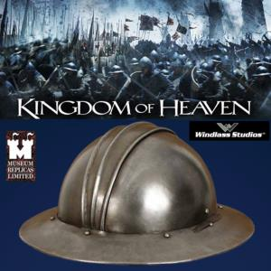 "KINGDOM OF HEAVEN - ""ENGLISH WAR HAT"" CASQUE DE GUERRE MEDIEVAL ANGLAIS OFFICIEL (WINDLASS STUDIO)"