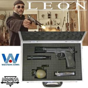 LEON THE PROFESSIONAL - PISTOLET AVEC SILENCIEUX, COUTEAU & GRENADE OFFICIELS LIMITED MOVIE EDITION