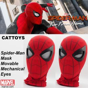 SPIDER-MAN : FAR FROM HOME - MASQUE OFFICIEL AVEC FERMETURE DES YEUX MECANISEE + SUPPORT TETE DE MANNEQUIN + TELECOMMANDE (MARVEL - CATTOYS)