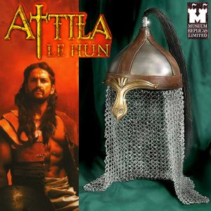 ATTILA LE HUN - CASQUE OFFICIEL + SUPPORT BOIS (WINDLASS STUDIO)