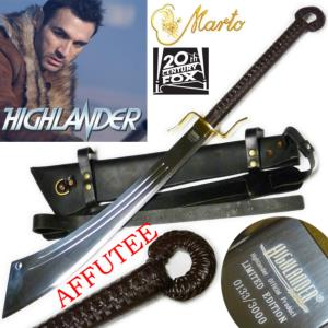 HIGHLANDER (SERIE) - SABRE DADAO DUNCAN MAC LEOD OFFICIEL LIMITED EDITION (VERSION AFFUTE TRANCHANT)