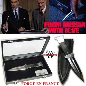 "JAMES BOND : FROM RUSSIA WITH LOVE - COUTEAU A LANCER ""ATTACHE CASE"" EDITION LIMITEE (PRACTICAL ARTISAN FORGERON - NO LIMITS)"