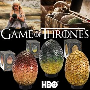 GAME OF THRONES - SET 3 OEUFS DE DRAGON OFFICIEL ECHELLE 1:1 (HBO - NOBLE COLLECTION)