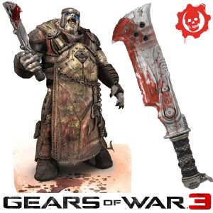 GEARS OF WAR 3 - COUPERET BUTCHER CLEAVER OFFICIEL (PROP REPLICAS NECA)