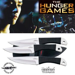 HUNGER GAMES (THE) - THROWING KNIFE SET OFFICIEL DE CLOVE (JUNGLE MODELE)