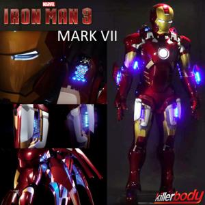 IRON MAN 3 - ARMURE COMPLETE MARK VII OFFICIELLE AVEC ECLAIRAGE ET MOTORISEE (MARVEL - KILLERBODY)