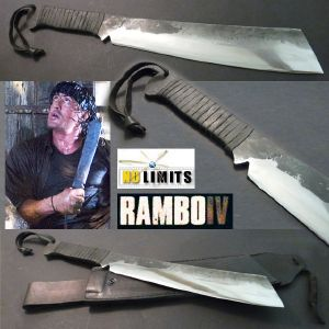 RAMBO IV - MACHETTE REPRODUCTION AUTHENTIQUE (PRACTICAL MAITRE FORGERON - NO LIMITS)