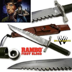 "RAMBO I - POIGNARD ""SLY VERSION"" REPRODUCTION AUTHENTIQUE (PRACTICAL MAITRE FORGERON - NO LIMITS)"