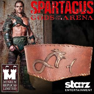 SPARTACUS :  GODS OF THE ARENA - CEINTURON GANNICUS OFFICIEL (STARZ ENTER. LLC - WINDLASS STUDIOS)
