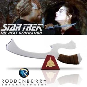 STAR TREK : THE NEXT GENERATION - TNG MACHETTE KLINGON MEK'LETH PROP REPLICA OFFICIELLE