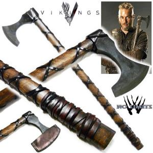 VIKINGS (SERIE) - HACHE RAGNAR REPRODUCTION AUTHENTIQUE (PRACTICAL MAITRE FORGERON - NO LIMITS)