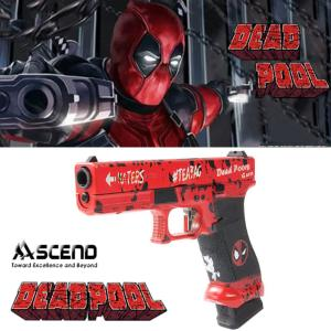 DEADPOOL (MARVEL COMICS) - PISTOLET GLOCK 17 OFFICIEL AVEC RETOUR DE CULASSE (LICENCE ASCEND / WE)
