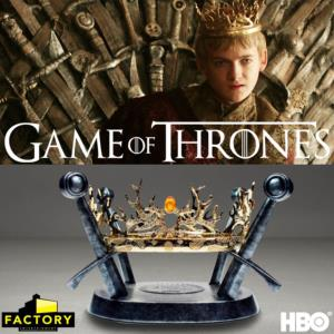 GAME OF THRONES - THE ROYAL CROWN OF THE HOUSES BARATHEON AND LANNISTER LIMITED EDITION PROP REPLICA