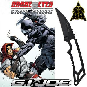 G.I. JOE : SNAKE EYES - COUTEAU ZARTAN CUMA HISS OFFICIEL (IMPORT USA TOPS KNIVES)