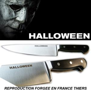 "HALLOWEEN (2018) - REPRODUCTION COUTEAU MICHAEL MYERS ""KITCHEN KNIFE PROP"" (FORGE EN FRANCE THIERS)"