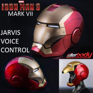IRON MAN 3 - CASQUE INTEGRAL MARK VII OFFICIEL OUVERTURE MOTORISEE, SON & LEDS A COMMANDE VOCALE