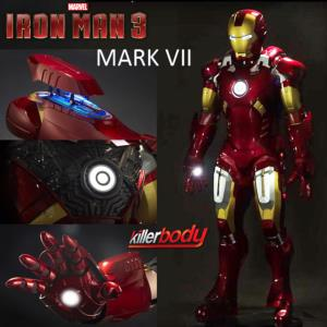 IRON MAN 3 - ARMURE COMPLETE MARK VII OFFICIELLE AVEC LEDS ET BRAS MOTORISES (MARVEL - KILLERBODY)