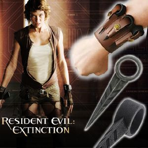 RESIDENT EVIL EXTINCTION - ALICE ARM SPIKES SET AVEC FOURREAU POIGNET