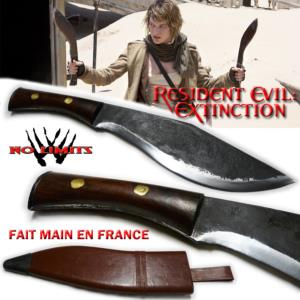 RESIDENT EVIL EXTINCTION - KUKRI REPRODUCTION AUTHENTIQUE  (FAIT MAIN EN FRANCE - ARTISAN FORGERON)