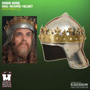 ROBIN HOOD (RIDLEY SCOTT) - CASQUE KING RICHARD OFFICIEL AVEC SUPPORT DELUXE (WINDLASS STUDIOS)