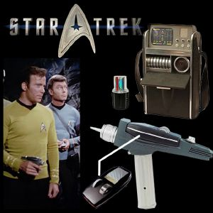 STAR TREK - PACK: PHASER WHITE HANDLE & TRICORDER TOS MEDICAL OFFICIELS LIMITED EDITION