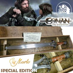 "CONAN - EPEE DU PERE DE CONAN ""FATHER SWORD"" SPECIAL EDITION OFFICIELLE MARTO VERSION BRONZE MASSIF"