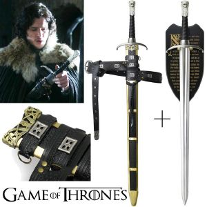GAME OF THRONES - LONGCLAW, EPEE ET FOURREAU DE JON SNOW OFFICIELS LIMITED EDITION