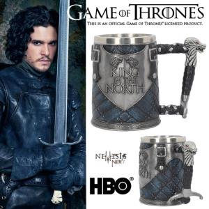 GAME OF THRONES - CHOPE OFFICIELLE JON SNOW, ROI DU NORD (HBO - NEMESIS NOW)