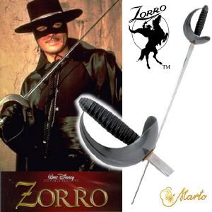 ZORRO (DISNEY SERIE) - GUY WILLIAMS SWORD OFFICIELLE HAUT DE GAMME (MARTO)