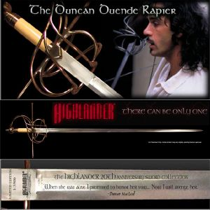 HIGHLANDER (SERIE) - DUNCAN RAPIER OFFICIELLE SIGNATURES EDITION MARTO (IMPORT USA 20TH CENTURY FOX)