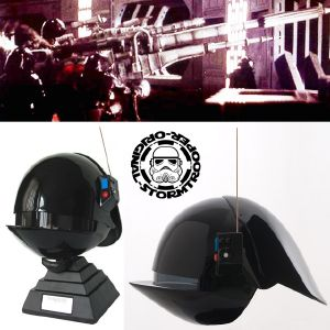 STAR WARS - IMPERIAL GUNNER CASQUE MOULAGE D'ORIGINE OFFICIEL SIGNATURE EDITION AVEC SUPPORT DELUXE