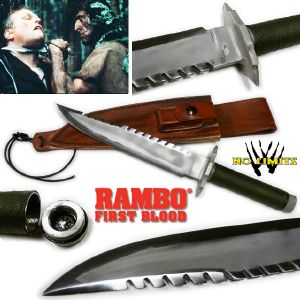 RAMBO I - POIGNARD REPRODUCTION AUTHENTIQUE (PRACTICAL MAITRE FORGERON - NO LIMITS)