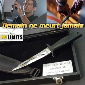 JAMES BOND : DEMAIN NE MEURT JAMAIS - DAGUE EDITION LIMITEE (PRACTICAL ARTISAN FORGERON - NO LIMITS)