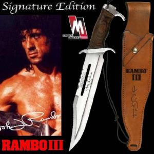 RAMBO III - POIGNARD OFFICIEL SIGNATURE EDITION