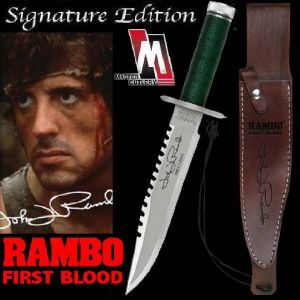 RAMBO I - POIGNARD OFFICIEL SIGNATURE EDITION