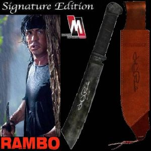 RAMBO IV - MACHETTE OFFICIELLE SIGNATURE EDITION