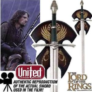 LOTR - ARAGORN STRIDER RANGER SWORD OFFICIELLE
